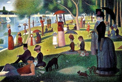 Seurat-Sunday afternoon on the island of Grande Jatte
